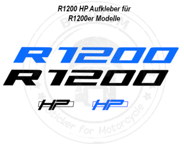 Der R1200 HP Dekor Aufkleber