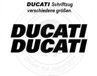 DUCATI Schriftzug Aufkleber